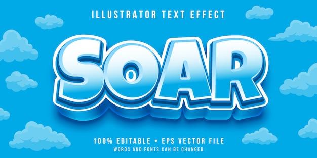 Efecto de texto editable - estilo de dibujos animados grueso