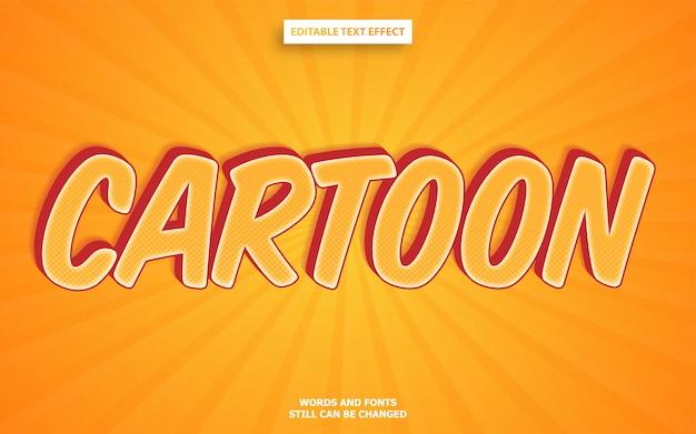 Efecto de texto editable de estilo de dibujos animados