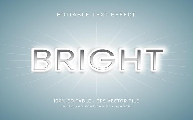 Efecto de texto editable de estilo de efecto de texto 3d brillante de luz
