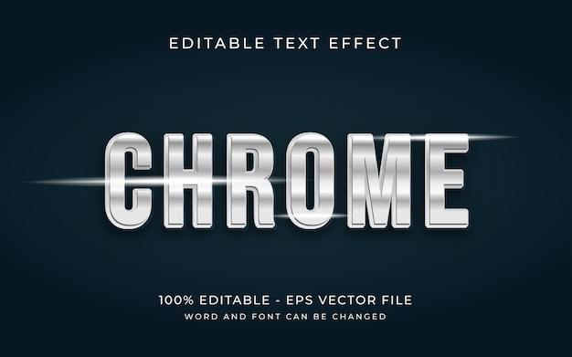 Efecto de texto editable de estilo de efecto de texto 3d de cromo metálico