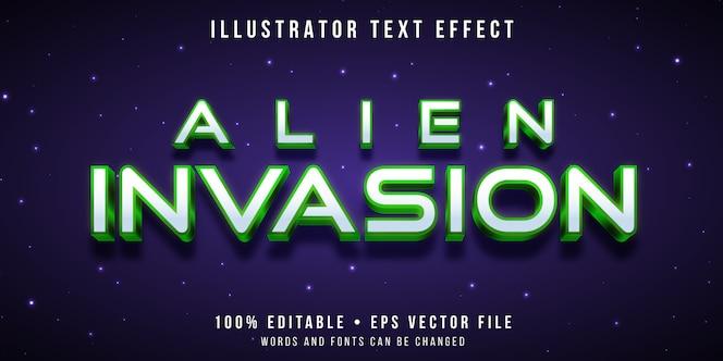 Efecto de texto editable - estilo extraterrestre
