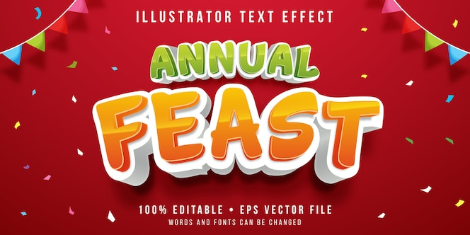 Efecto de texto editable - estilo de fiesta