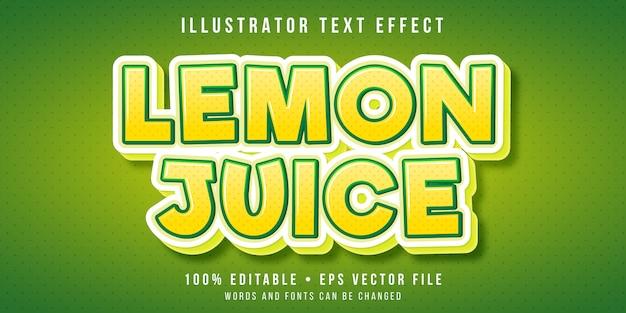 Efecto de texto editable - estilo de fruta de limón
