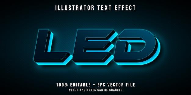 Efecto de texto editable - estilo futurista de luz led de neón