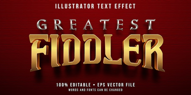Efecto de texto editable - estilo golden fiddler