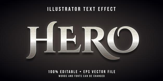 Efecto de texto editable: estilo de héroe antiguo