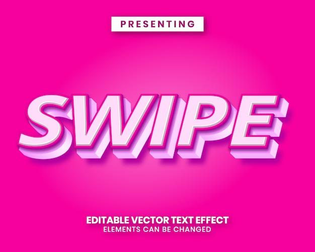 Efecto de texto editable de estilo lindo 3d