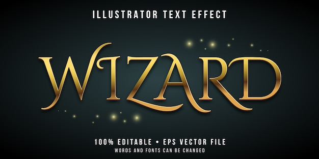 Efecto de texto editable - estilo mágico asistente