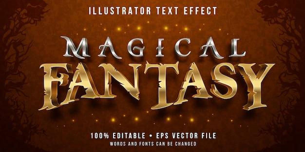 Efecto de texto editable - estilo mágico de fantasía
