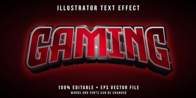 Efecto de texto editable: estilo de marca de juego rojo
