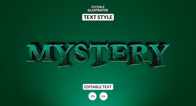 Efecto de texto editable - estilo misterio de terror