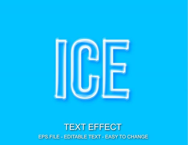 Efecto de texto editable estilo pincel de hielo
