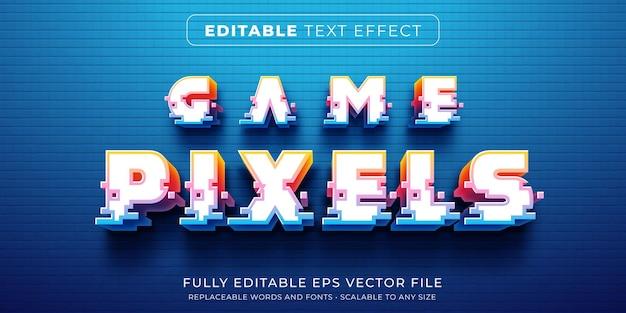 Efecto de texto editable en estilo de píxel de juego de arcade