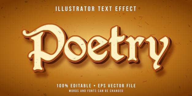 Efecto de texto editable - estilo de poesía