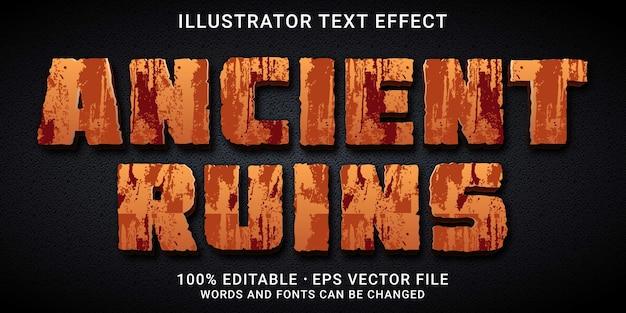 Efecto de texto editable - estilo ruinas antiguas