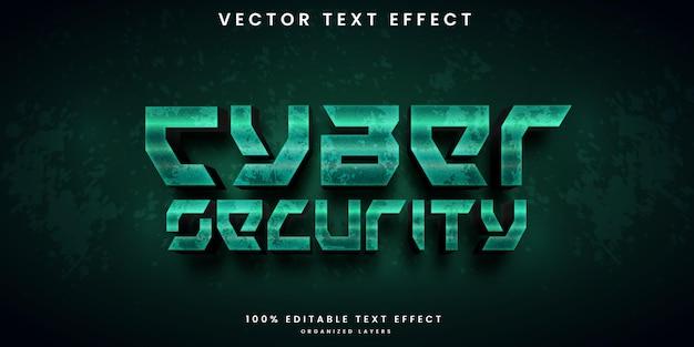 Efecto de texto editable de estilo de seguridad cibernética
