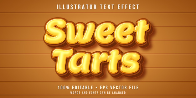Efecto de texto editable - estilo tarta dulce