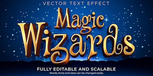 Efecto de texto editable, estilo de texto de asistente mágico