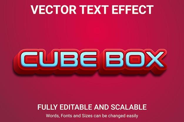 Efecto de texto editable: estilo de texto cube box