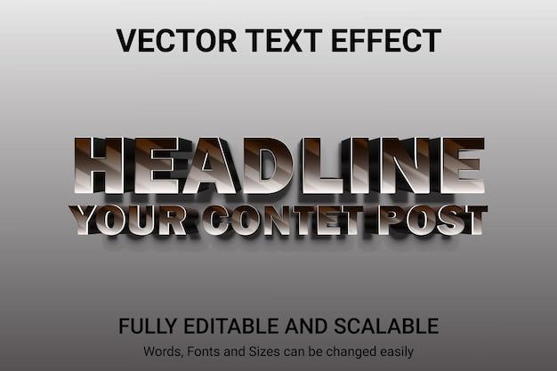 Efecto de texto editable: estilo de texto con descuento
