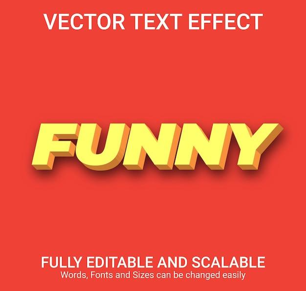 Efecto de texto editable: estilo de texto divertido
