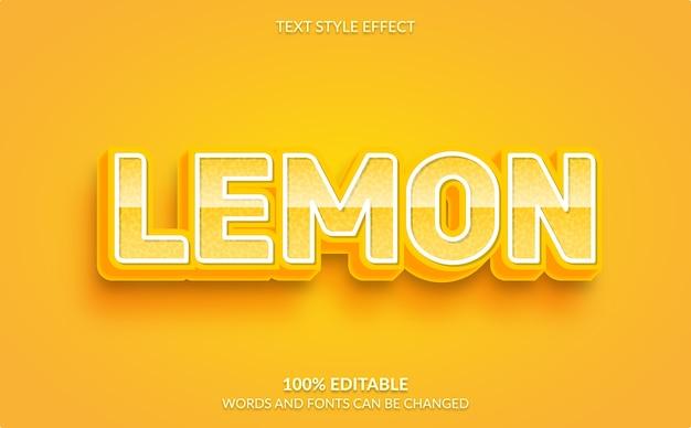 Efecto de texto editable, estilo de texto de limón