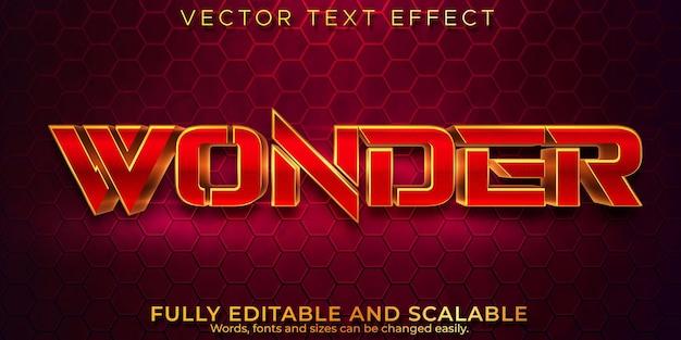 Efecto de texto editable, estilo de texto de lujo maravilloso Vector Premium