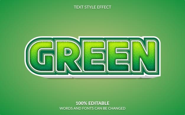 Efecto de texto editable, estilo de texto de manzana verde