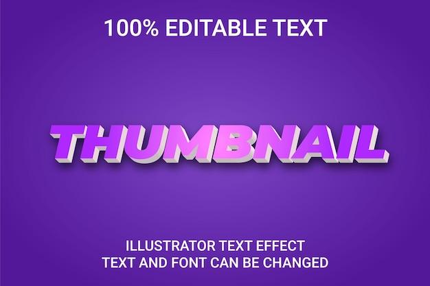 Efecto de texto editable: estilo de texto miniatura