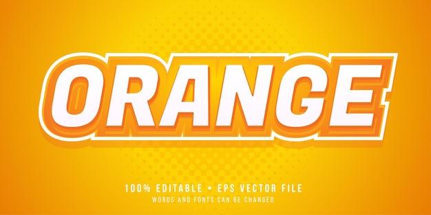 Efecto de texto editable estilo de texto naranja