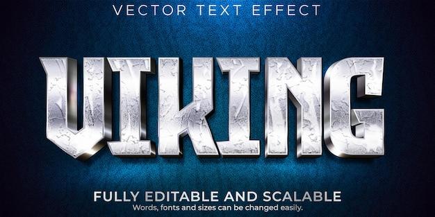 Efecto de texto editable, estilo de texto nórdico vikingos