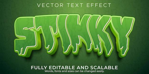 Efecto de texto editable, estilo de texto con olor apestoso