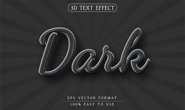 Efecto de texto editable estilo de texto oscuro