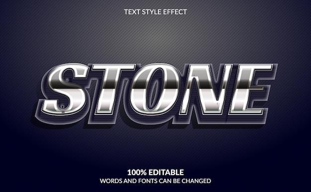 Efecto de texto editable, estilo de texto de piedra