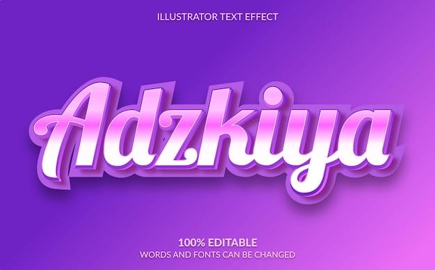 Efecto de texto editable, estilo de texto púrpura lindo