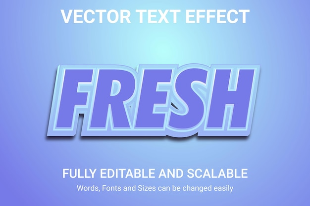 Efecto de texto editable: estilo de texto real