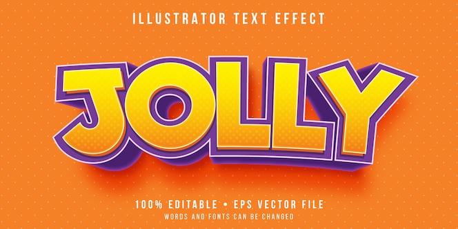 Efecto de texto editable: estilo de texto de sentimiento feliz