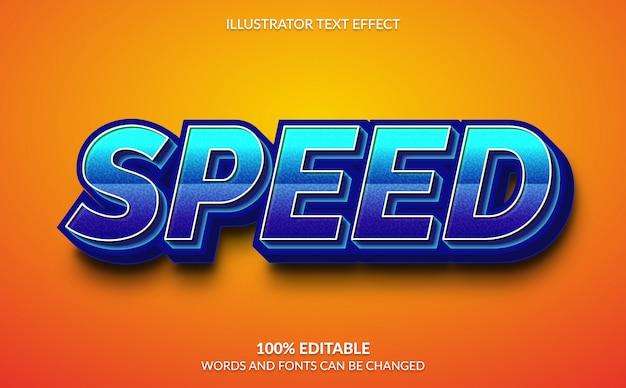 Efecto de texto editable, estilo de texto de velocidad