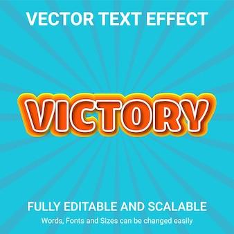 Efecto de texto editable: estilo de texto victory