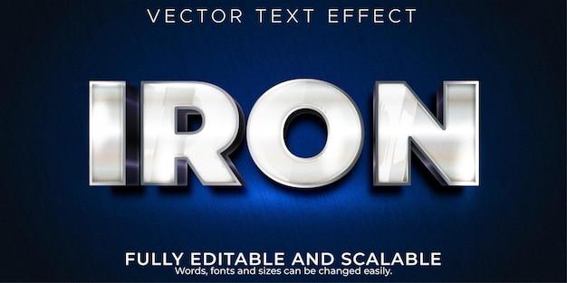 Efecto de texto editable estilo de texto de viñeta metálica