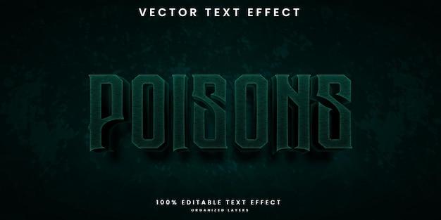 Efecto de texto editable estilo veneno