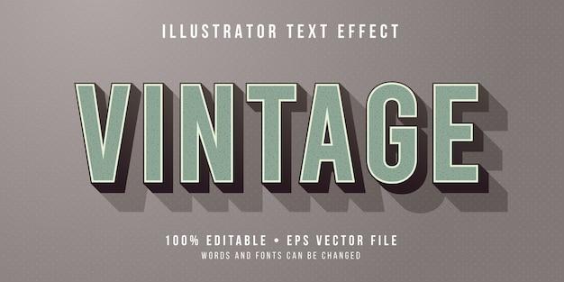 Efecto de texto editable - estilo vintage