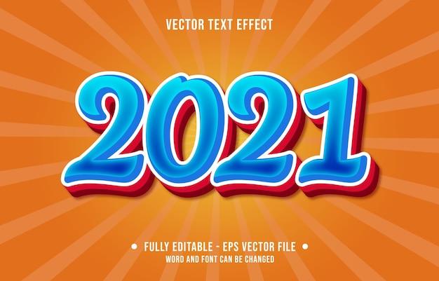 Efecto de texto editable feliz año nuevo estilo moderno
