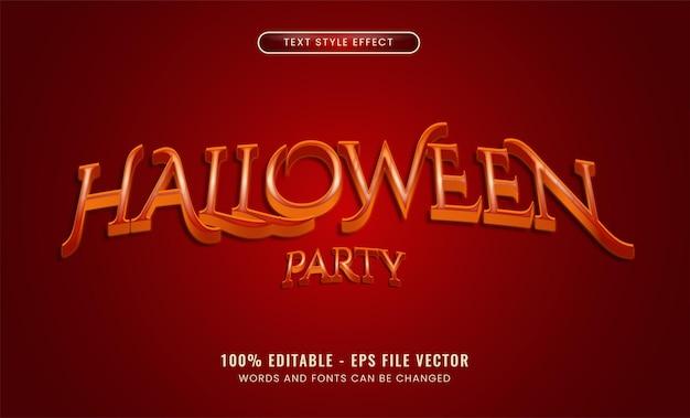 Efecto de texto editable de fiesta de halloween vector premium