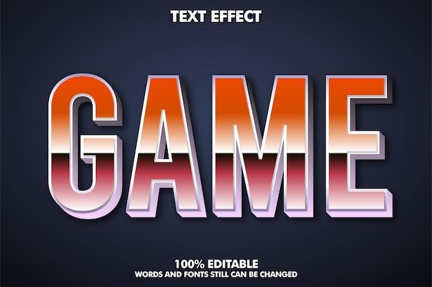 Efecto de texto editable fresco y moderno