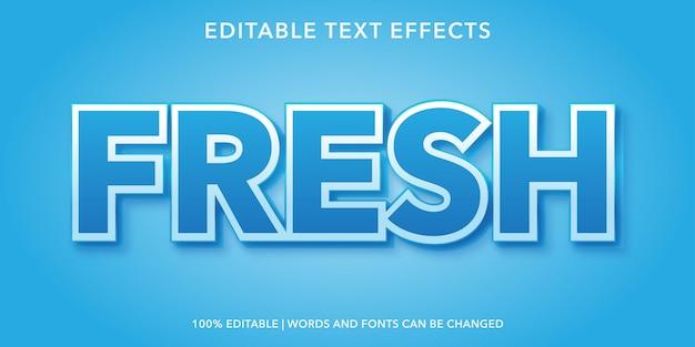 Efecto de texto editable fresco