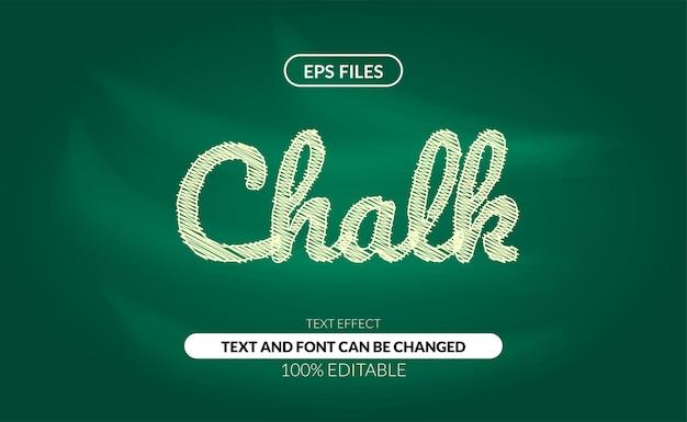Efecto de texto editable de garabatos de tiza en la pizarra verde.