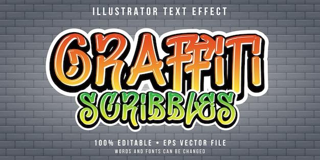 Efecto de texto editable - graffiti en estilo de pared