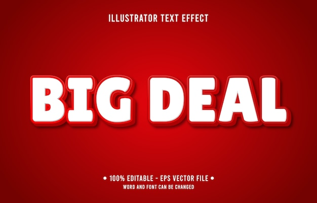 Efecto de texto editable de gran oferta estilo moderno de tienda en línea