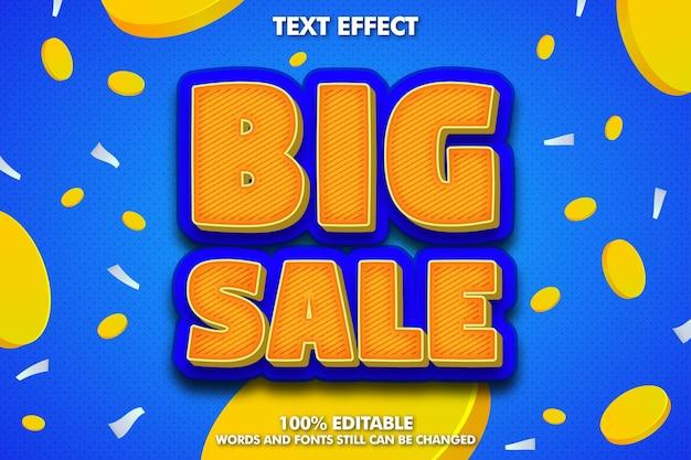 Efecto de texto editable de gran venta y fondo para